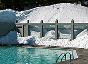 pool in winter