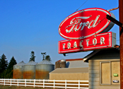 Ford tractor sign