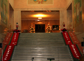 Christmas - Capitol stairs