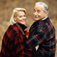 couple in flannel coats