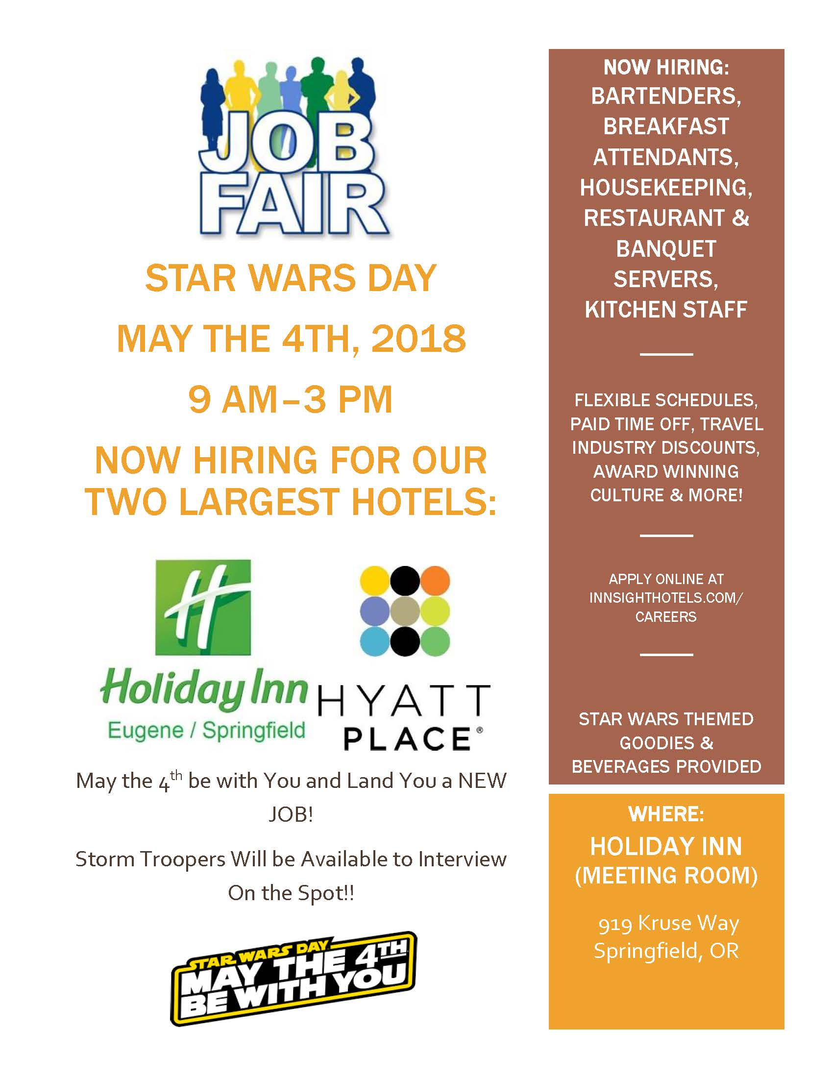 State of oregon job seekers job fairs and events innsight hotel job fair may 4thg falaconquin