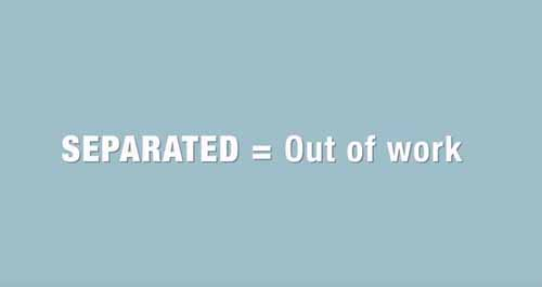 Click to play the video for What is a Separation from an Employer? Not as Common.