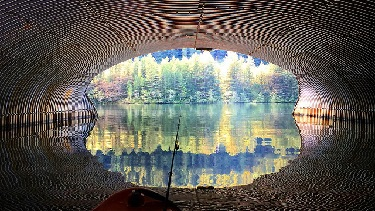 Inside view of Clackamas River culvert.