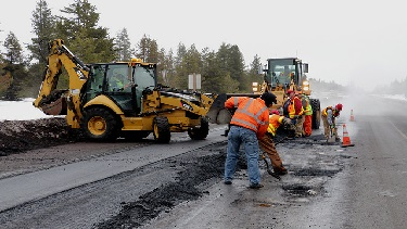 Photo of ODOT crew working on-site.