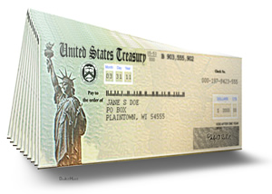 Checks from US Treasury