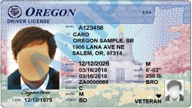 Sample Oregon Driver License