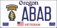 U.S. Army Special Forces Airborne Plate