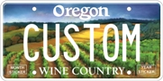 Custom Wine Country plate