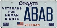 Veterans for Human Rights plate