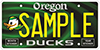 Oregon Duck License Plate