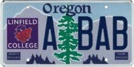 Linfield College License Plate