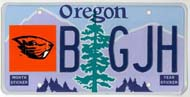 Oregon State University License Plate