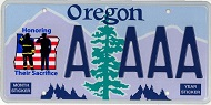 Image of an OR non-profit license plate