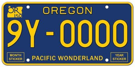 A photo of the Pacific Wonderland registration plate