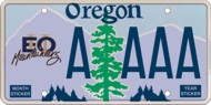 Eastern Oregon University License Plate
