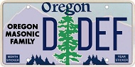Oregon Masonic Family License Plate