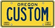 Image of OR custom license plate