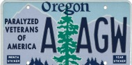 Oregon Paralyzed Veterans of America License Plate