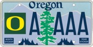 University of Oregon License Plate