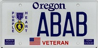 Oregon Purple Heart License Plate