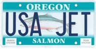 Custom Salmon License Plate