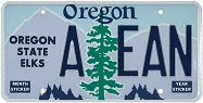 Oregon State Elks License Plate