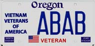 Vietnam Veterans of America License Plate