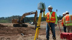 ODOT employee conducts field survey