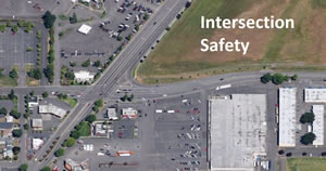 Aerial view of intersection in Salem