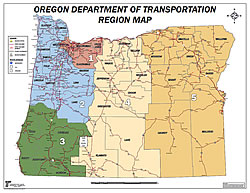 Oregon Department Of Transportation Safety Priority Index System - Map of oregon highways