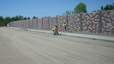 Soundwall installation at Woodburn