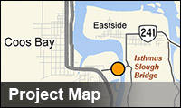 Map for Isthmus Slough Bridge project