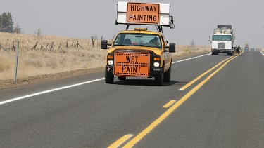 Striping a highway