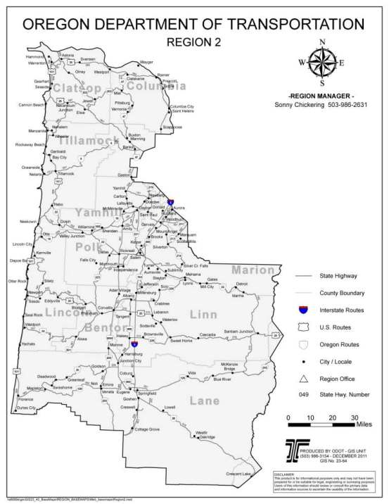 Oregon Department of Transportation : Region 2 Maintenance and ...