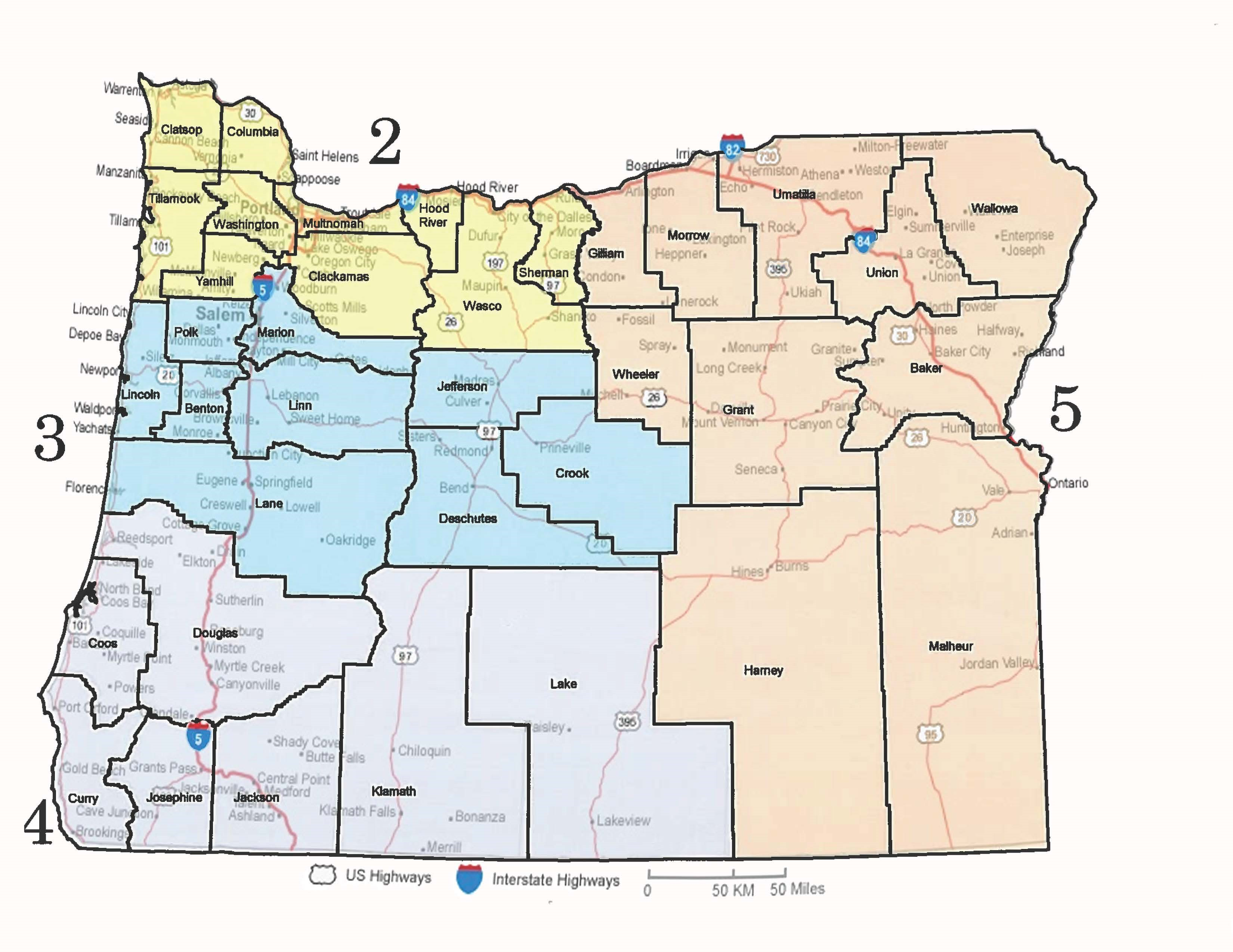 State Of Oregon Map Oregon Office of Emergency Management : State Search and Rescue