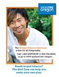 Quit Line Print Advertisement (Quarter Page)