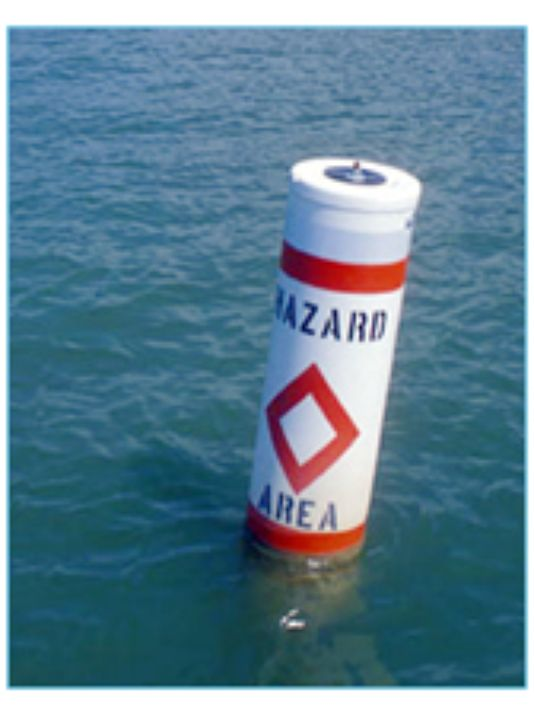 Image of a Hazard Informational Waterway Marker