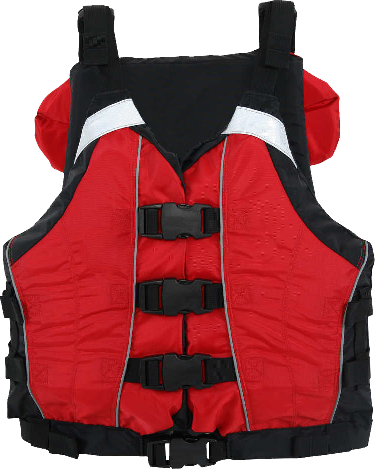 Image of a special use life jacket for whitewater or other paddling activities.
