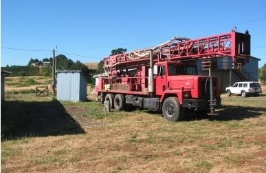 A photo of a drill rig