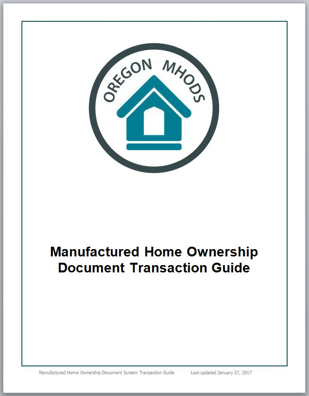 MHODS transaction guide