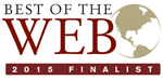 Center of Digital Government Best of Web 2015 Finalist Award logo