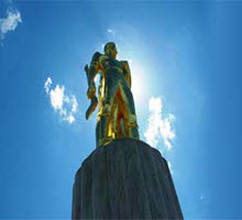 Golden Pioneer that stands on top Oregon's capital building