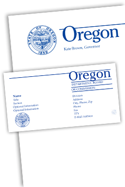 State of oregon printing mailing and distribution services letterhead and business card sample spiritdancerdesigns Gallery