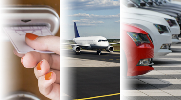 airplane and car rental