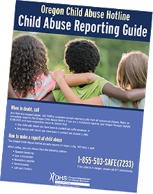 Reporting child abuse infographic