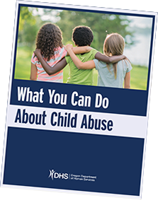 What you can do about child abuse booklet infographic