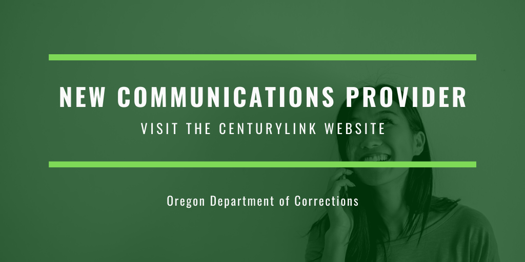 "Photo of a person talking on the phone with text on top stating ""new communications provider - visit the centurylink website"""