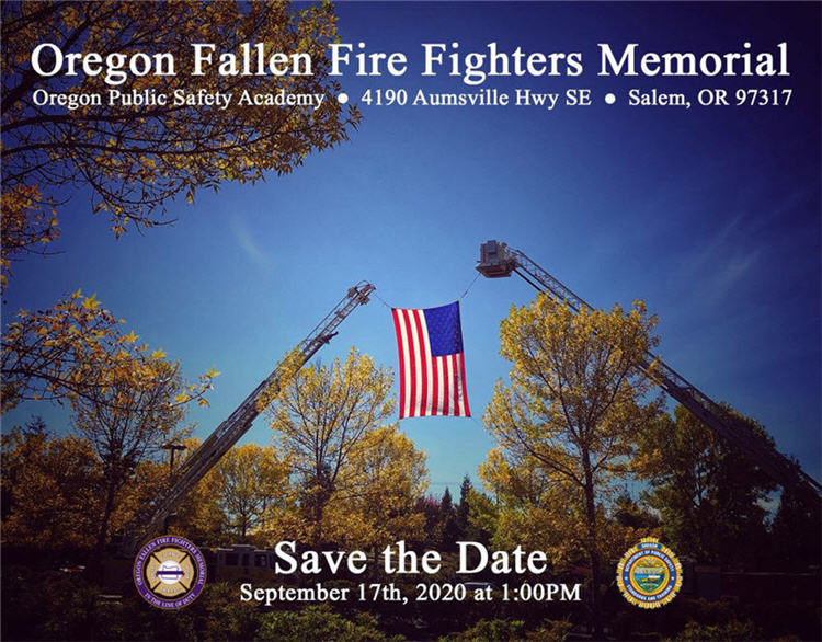 Fallen Fire Fighters Memorial Save the Date
