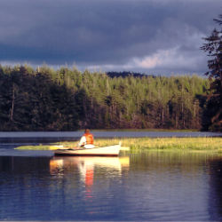 Canoe on South Slough photo