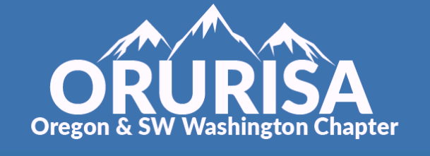 Logo for the Urban and Regional Information Systems Association Oregon and SW Washington Chapter